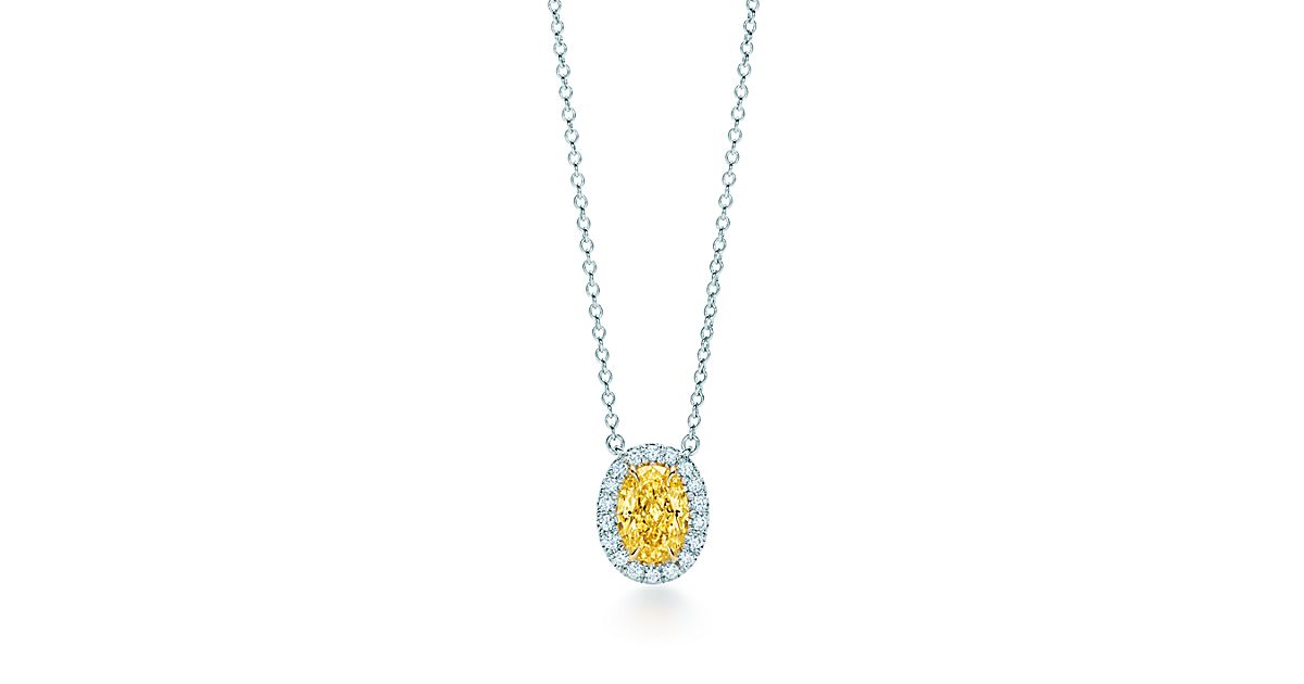 Tiffany Soleste 174 Yellow Diamond Pendant In Platinum And