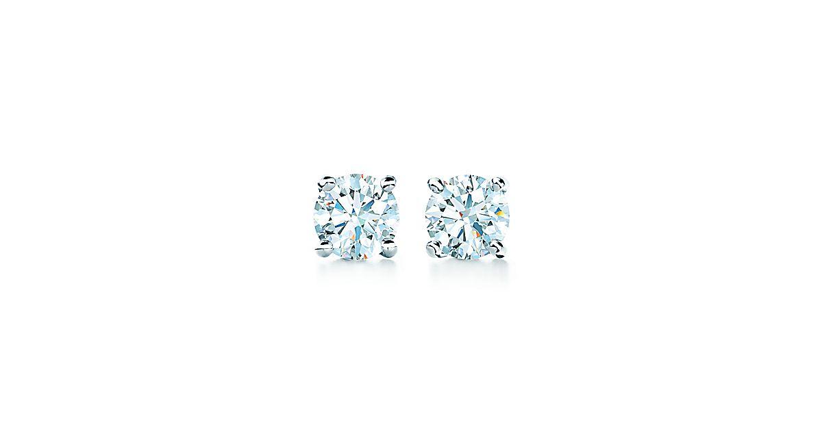 Tiffany solitaire diamond earrings