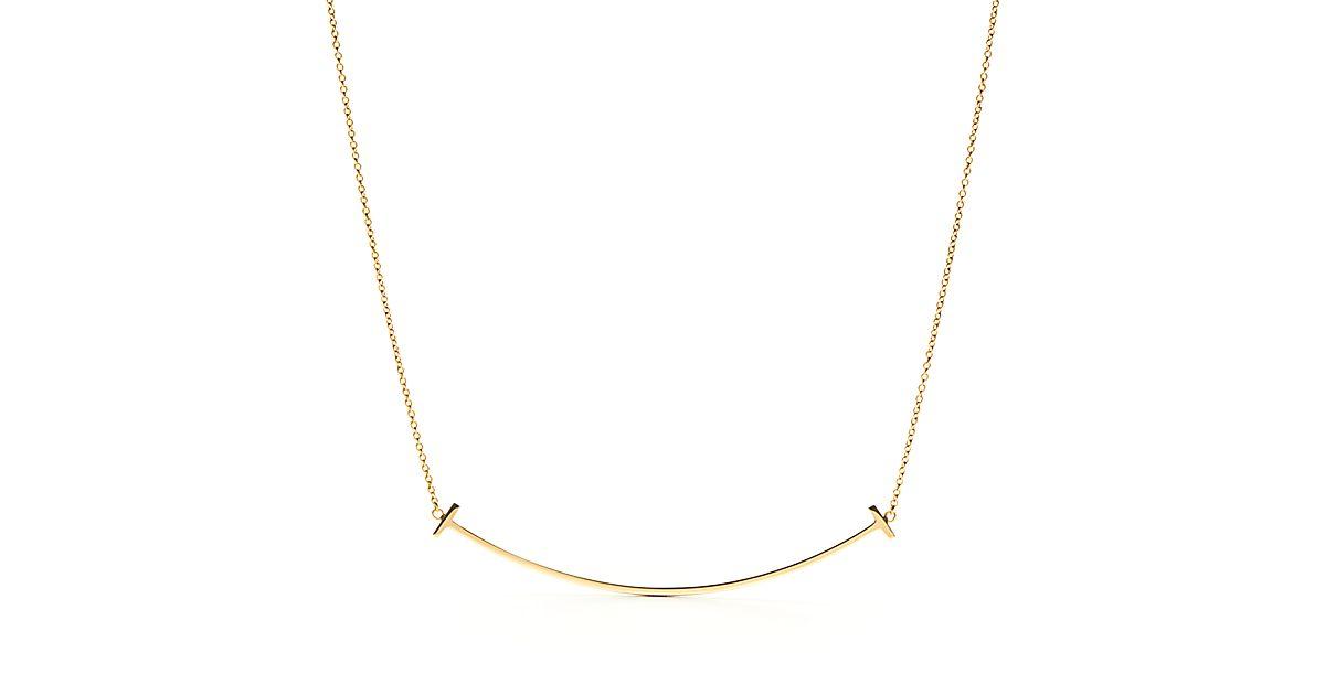 Tiffany T Smile Pendant In 18k Gold Tiffany Amp Co