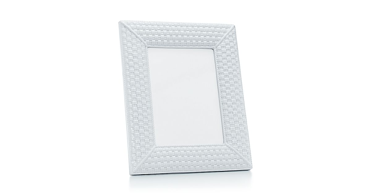 tiffany weave frame in bone china tiffany co