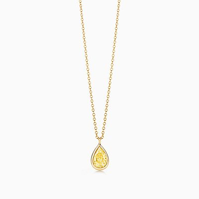 Necklaces pendants tiffany co elsa peretti diamonds by the yard pendant in 18k gold with a yellow diamond mozeypictures Image collections