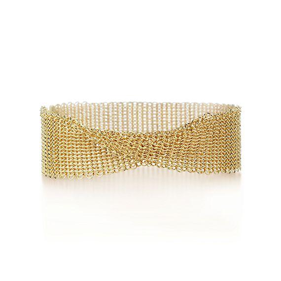 Elsa Peretti 174 Mesh Narrow Bracelet In 18k Gold Medium
