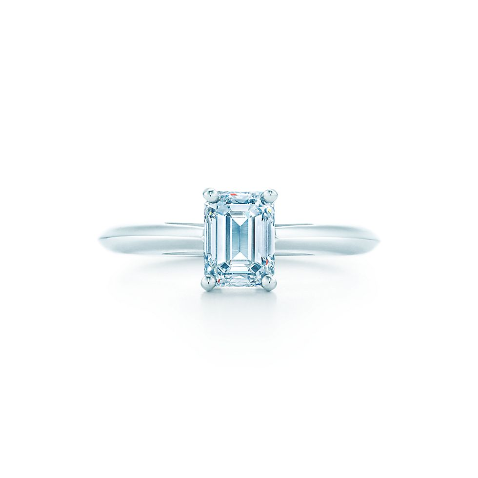 emerald cut engagement rings engagement rings tiffany co - Emerald Cut Wedding Rings