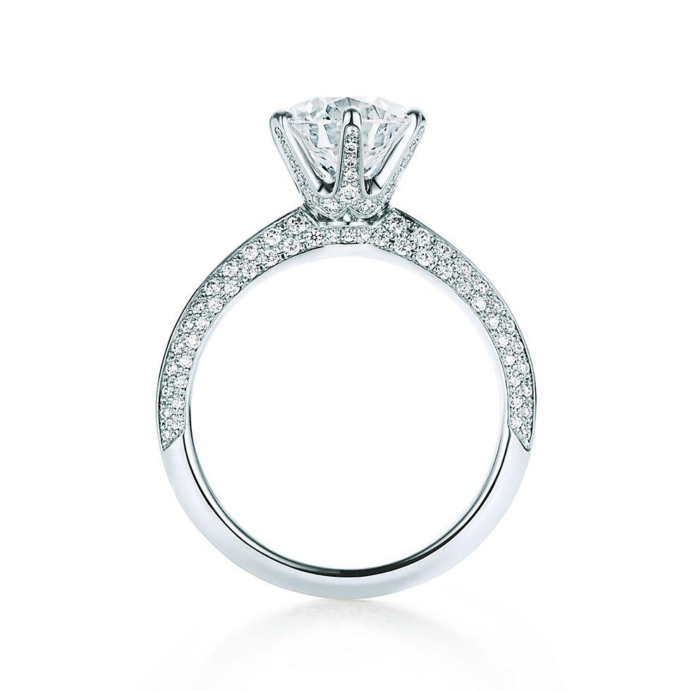 Engagement ring tiffany  Pavé Tiffany® Setting Verlobungsringe | Tiffany & Co.