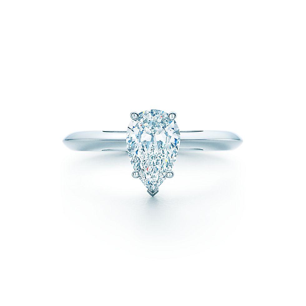 pear shaped diamond engagement rings tiffany co - Pear Shaped Wedding Rings