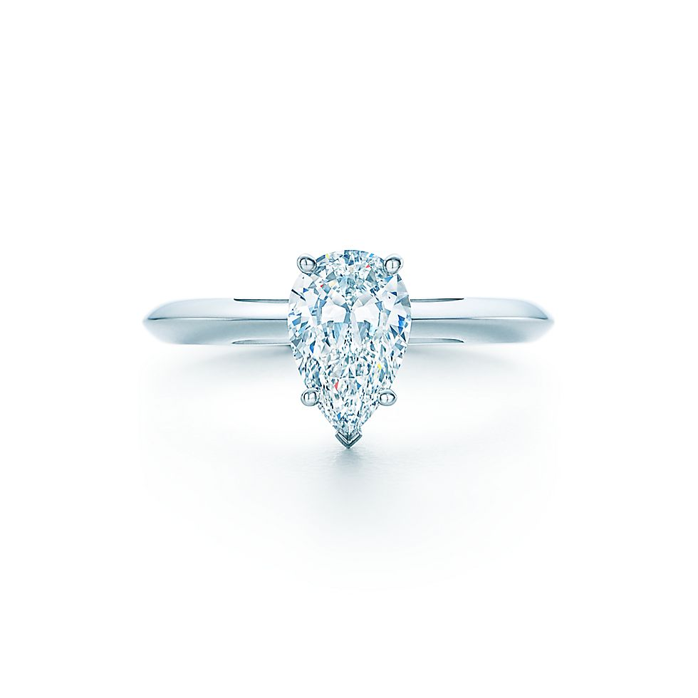 Beau Pear Shaped Diamond Engagement Rings | Tiffany U0026 Co.
