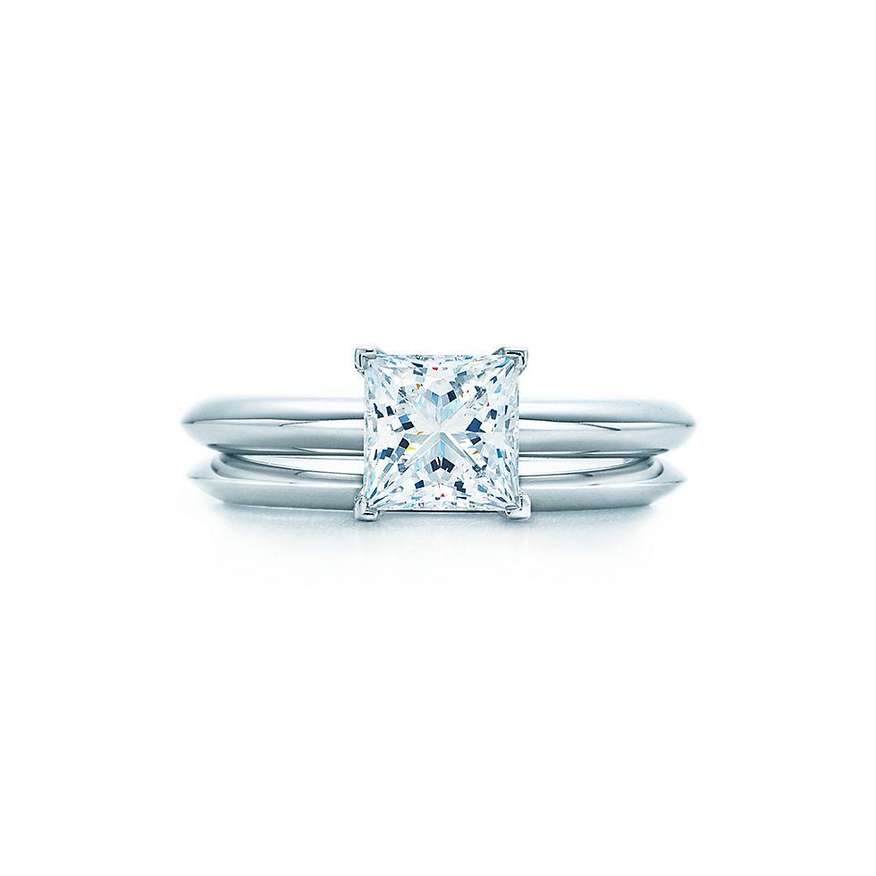 princess cut diamond engagement ring engagement rings tiffany co - Wedding Rings Princess Cut