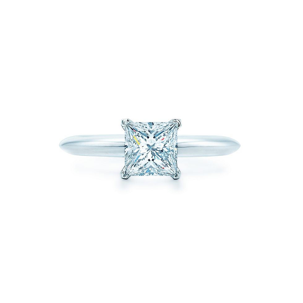 Princess Diamond Cut Wedding Rings