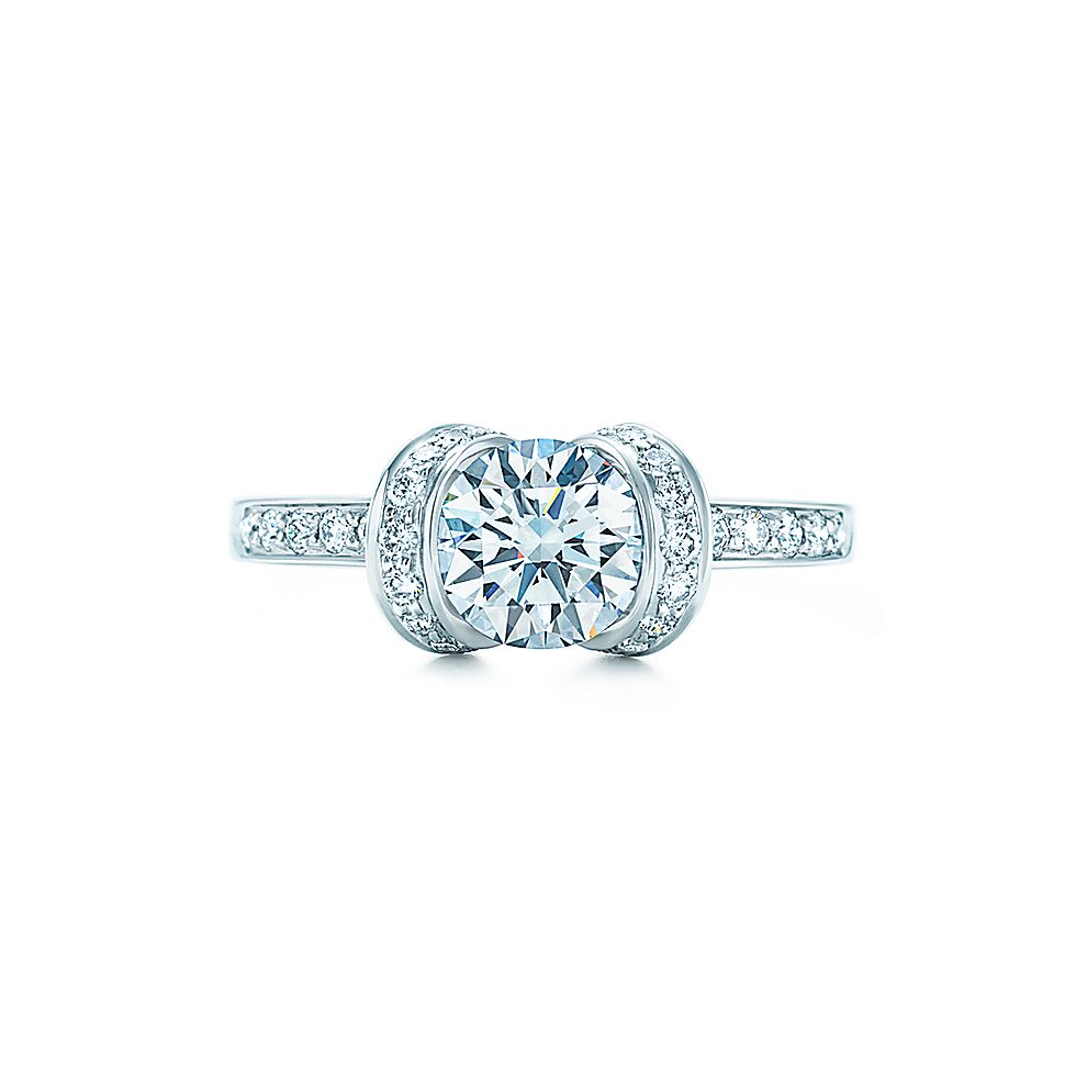 Ribbon Engagement Ring Tiffany