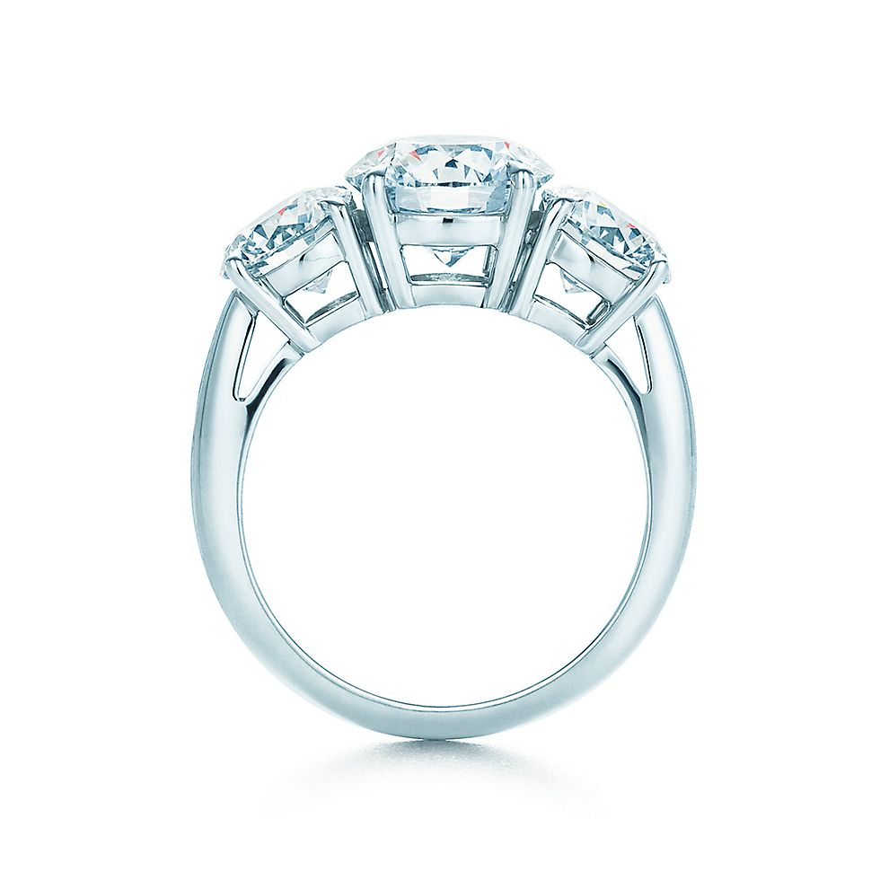 three stone engagement rings engagement rings tiffany co - Three Stone Wedding Rings
