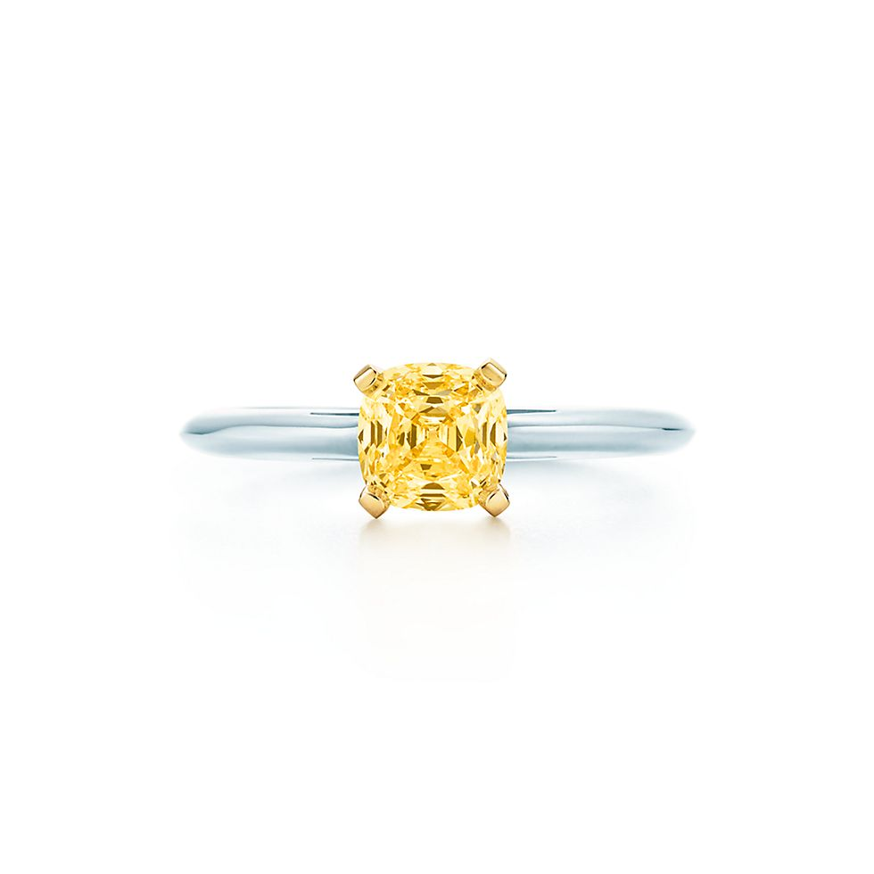 Square Antique Modified Brilliant Engagement Rings