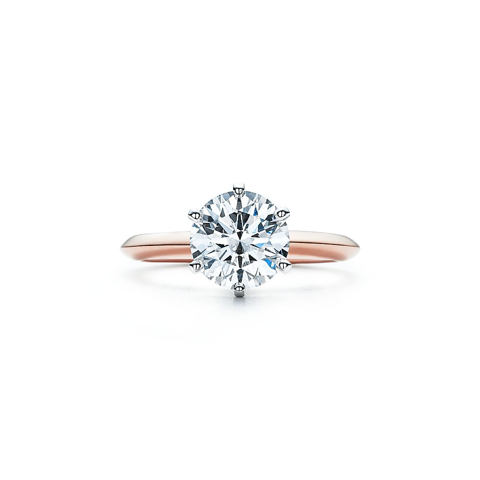 the tiffany setting 18k rose gold engagement rings tiffany co - Wedding Rings Tiffany