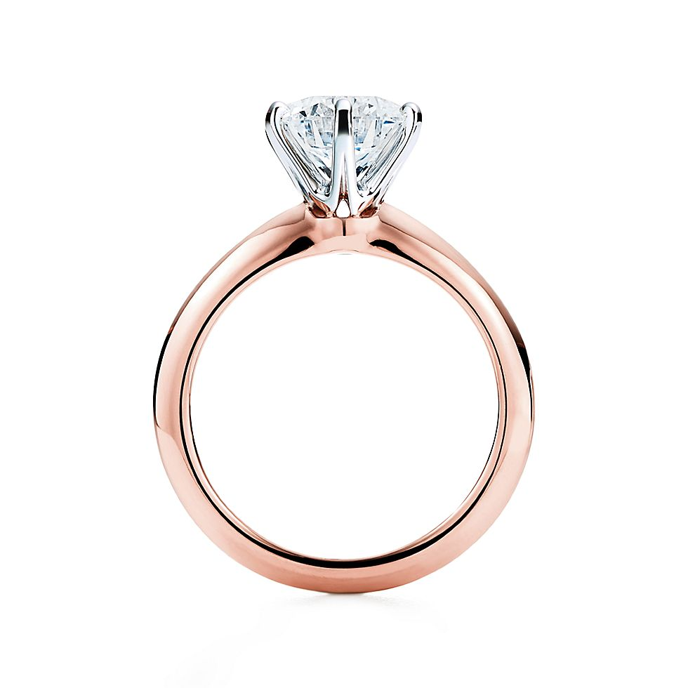 the tiffany setting 18k rose gold engagement rings tiffany co - Rose Wedding Rings