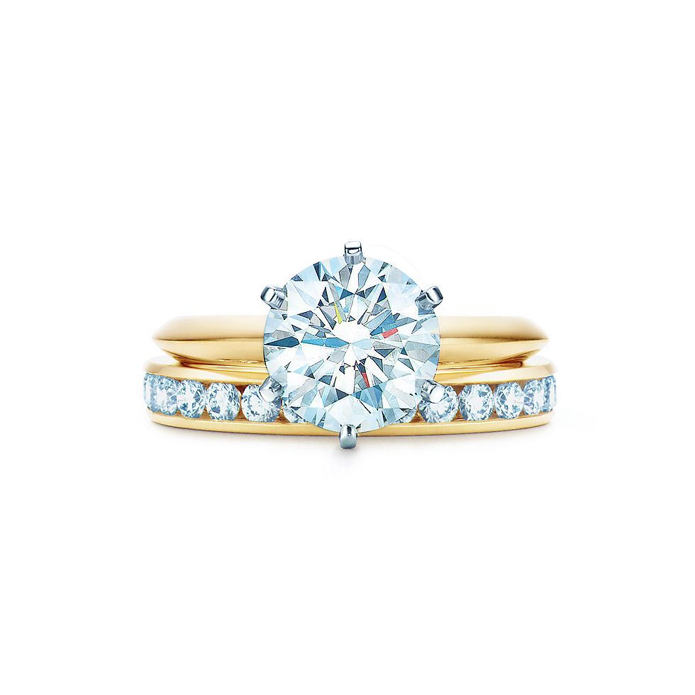 18k yellow gold diamond engagement ring engagement rings tiffany co - Gold Diamond Wedding Rings