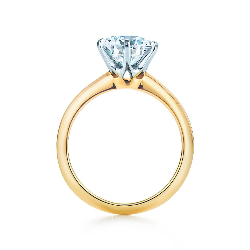Wedding rings gold  The Tiffany® Setting 18K Yellow Gold Engagement Rings | Tiffany & Co.