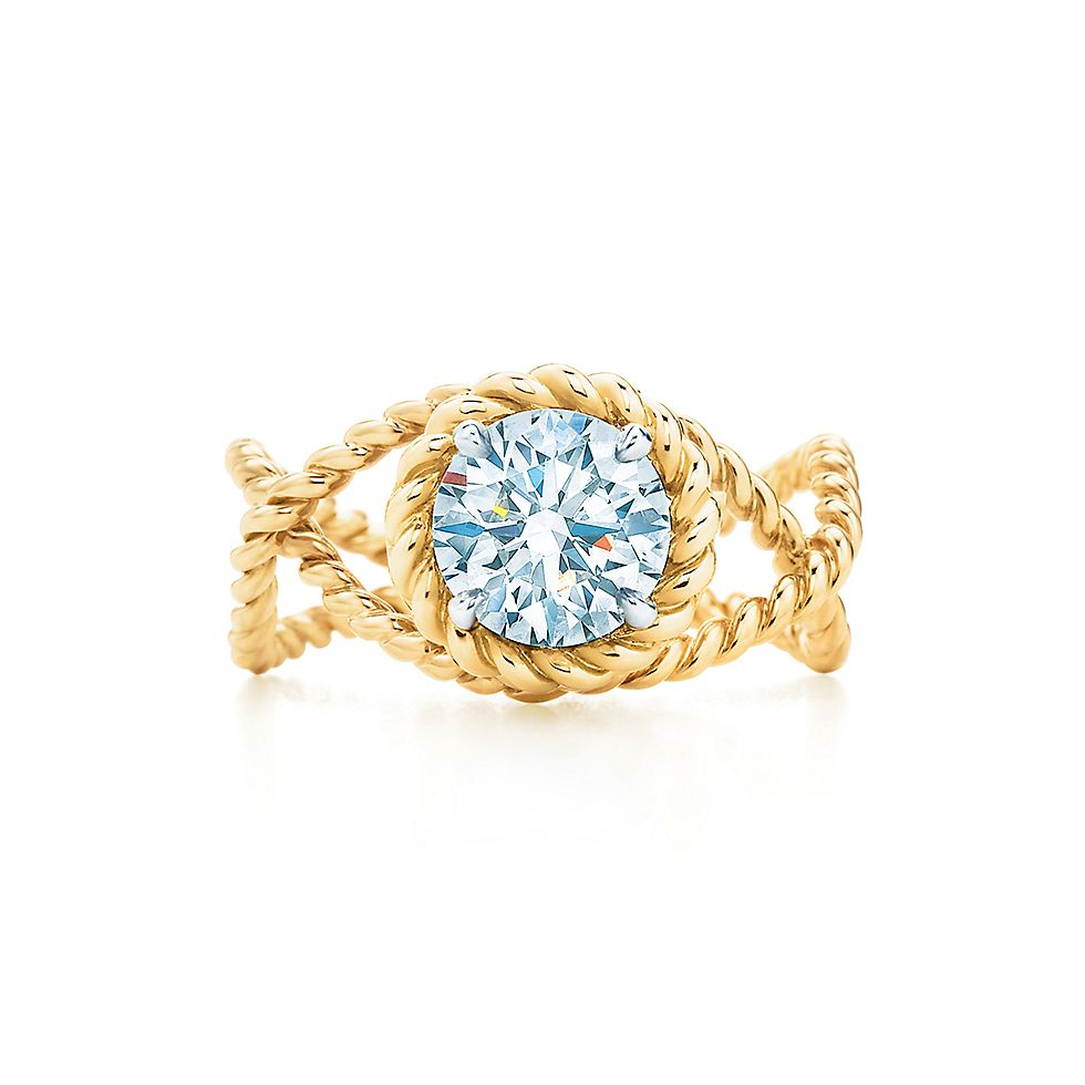 Schlumberger® Rope Ring Engagement Rings  Tiffany & Co