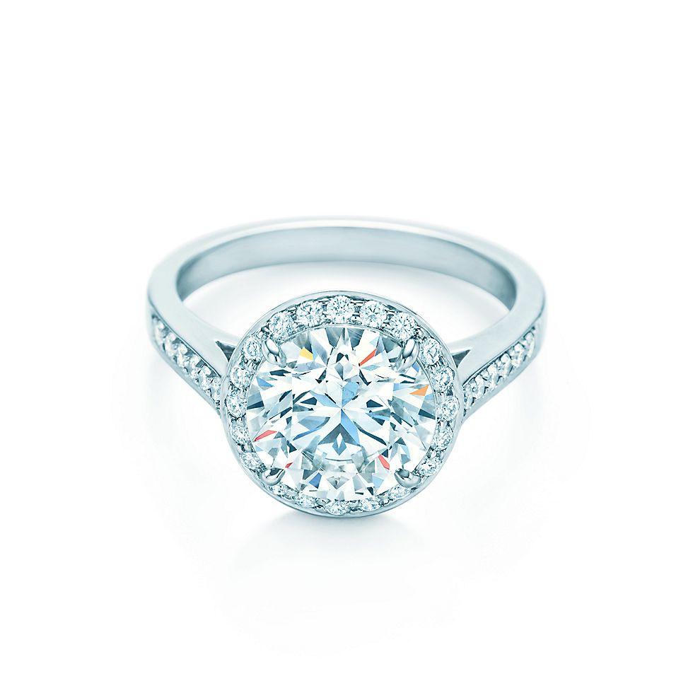 Round Brilliant Ribbon Ring Engagement Rings Tiffany Co