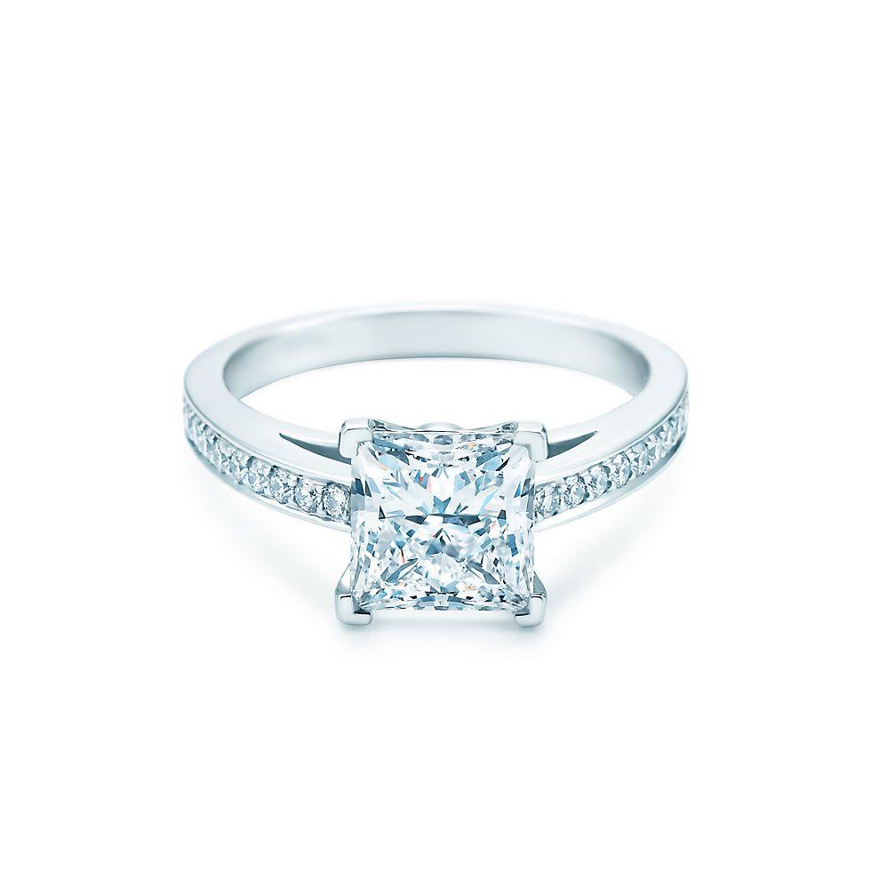 Princess Cut Diamond Engagement Ring Engagement Rings Tiffany Co
