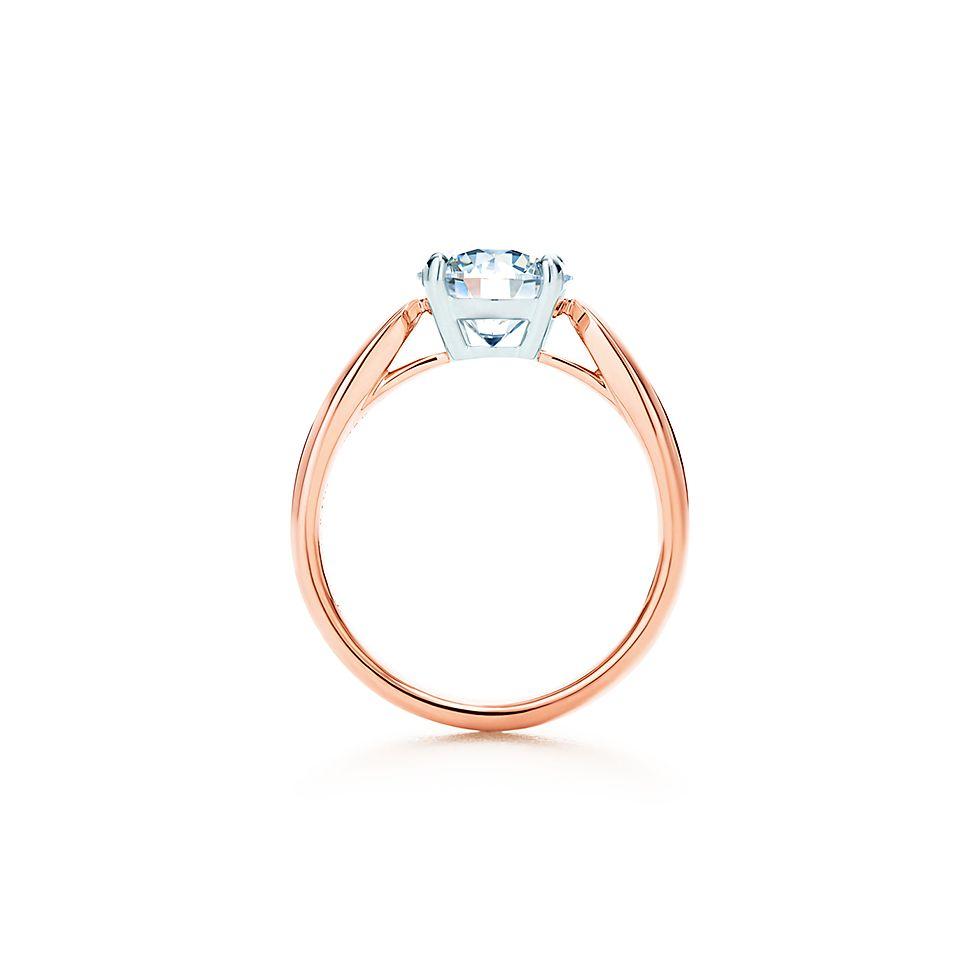 Tiffany HarmonyR 18k Rose Gold Engagement Rings
