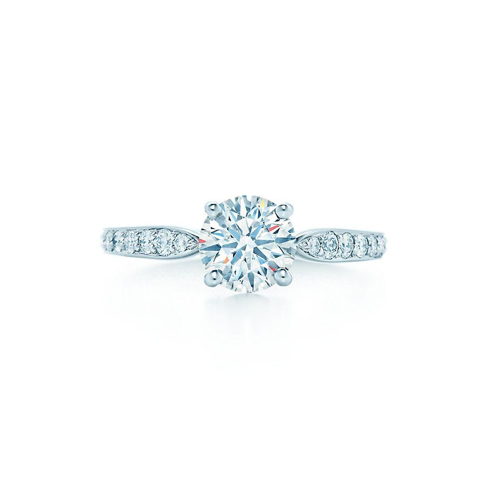 Tiffany Harmony with Beadset Band Engagement Rings Tiffany Co