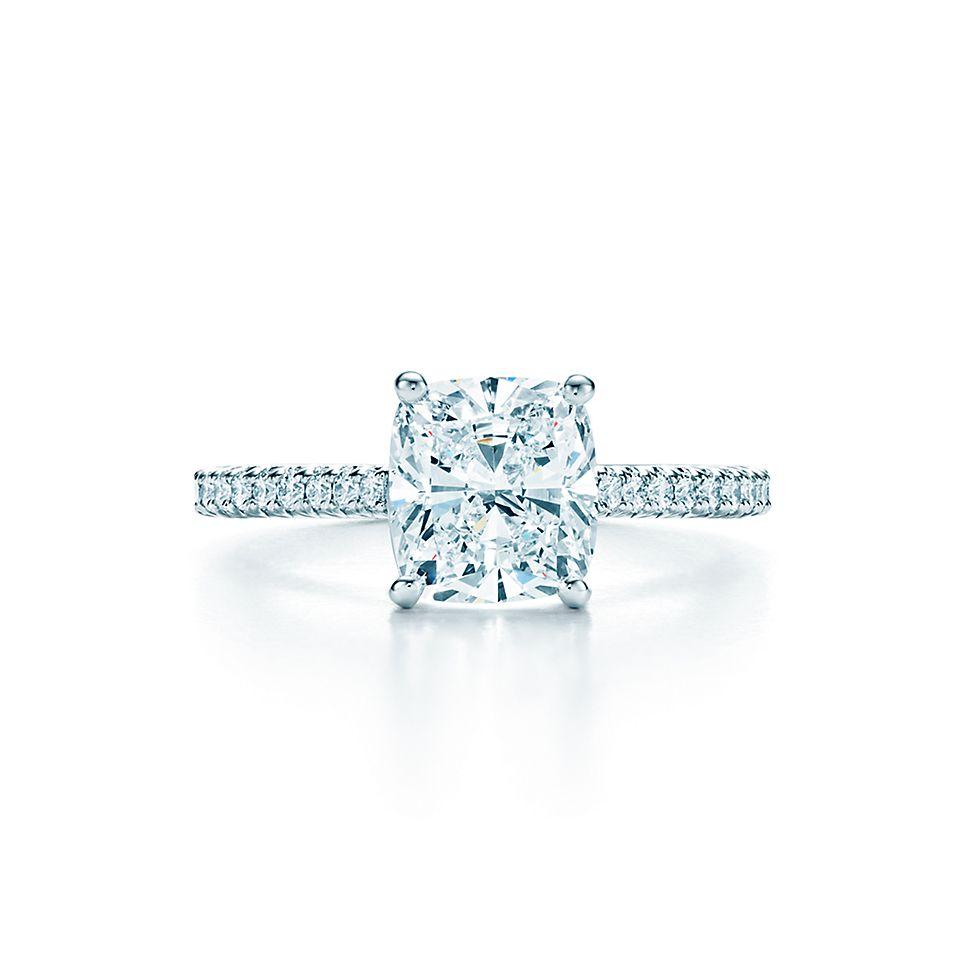 tiffany novo cushion cut engagement rings tiffany co - Wedding Rings Tiffany