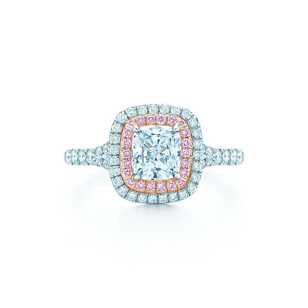 tiffany soleste® cushion engagement rings   tiffany & co.