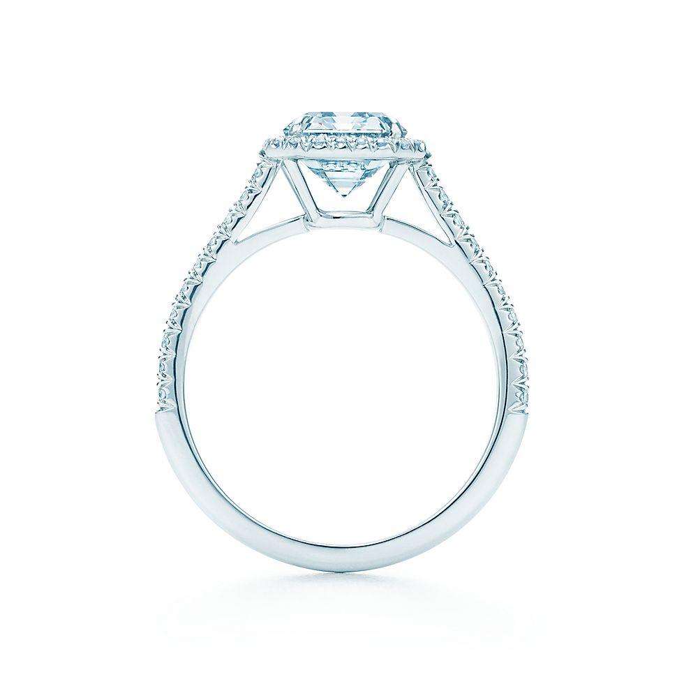 Emerald Cut Diamond Engagement Rings Tiffany Soleste Engagement