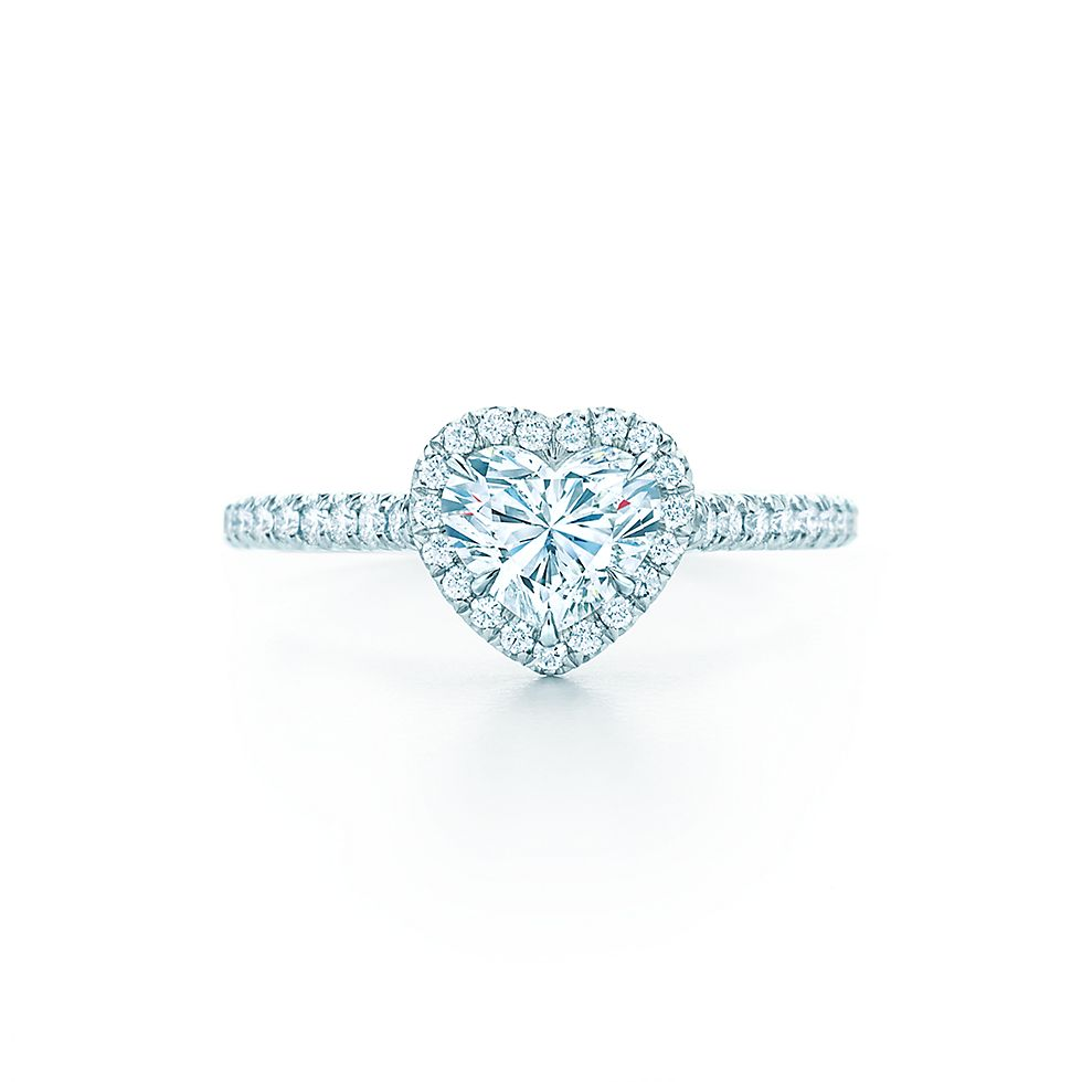 Tiffany Soleste Heart Engagement Rings