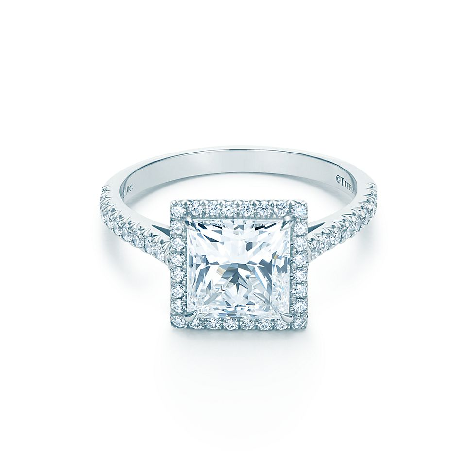 ring tiffany diamond rings tiffany cushion cut diamond engagement ring