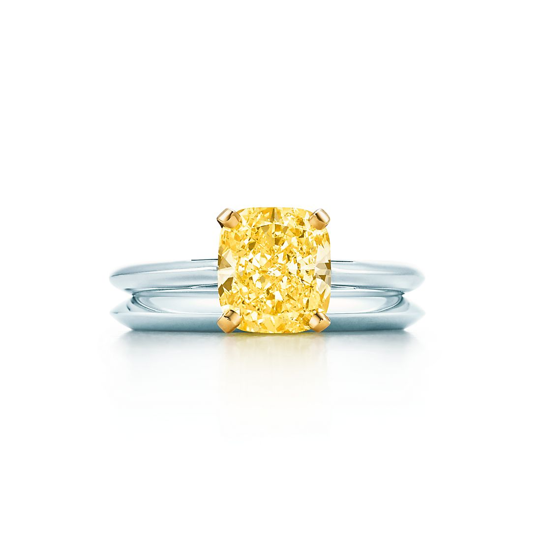 200 Ct Shown With Tiffany Wedding Band