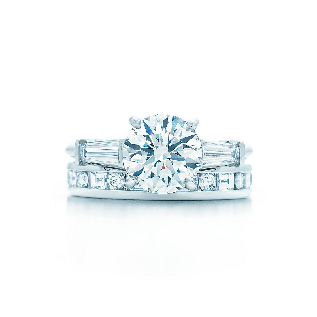 24 Ct Shown With Channelset Band Ring With Baguette And Round Brilliant  Diamonds
