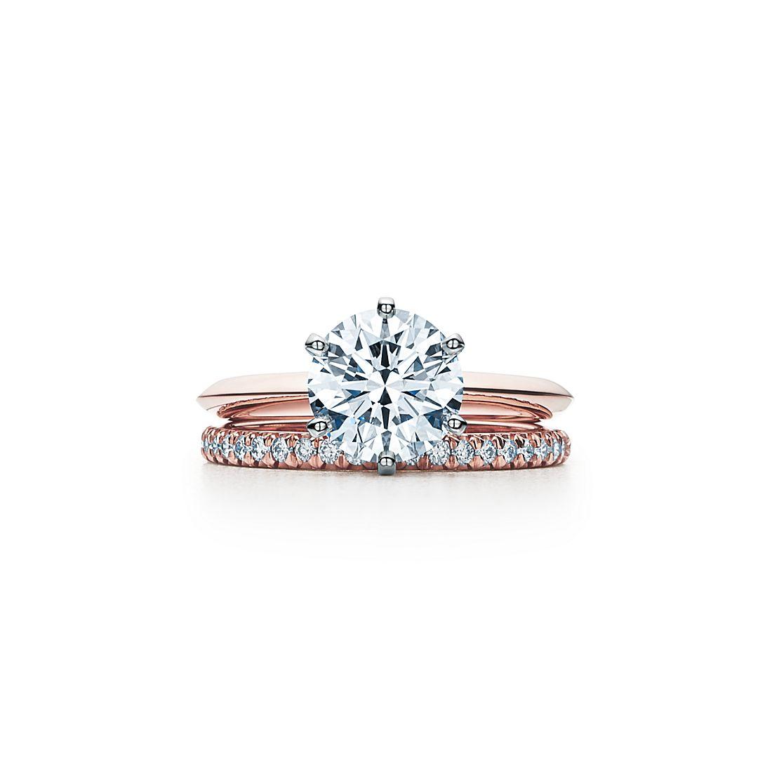 Engagement ring tiffany  The Tiffany® Setting 18K Rose Gold Engagement Rings | Tiffany & Co.