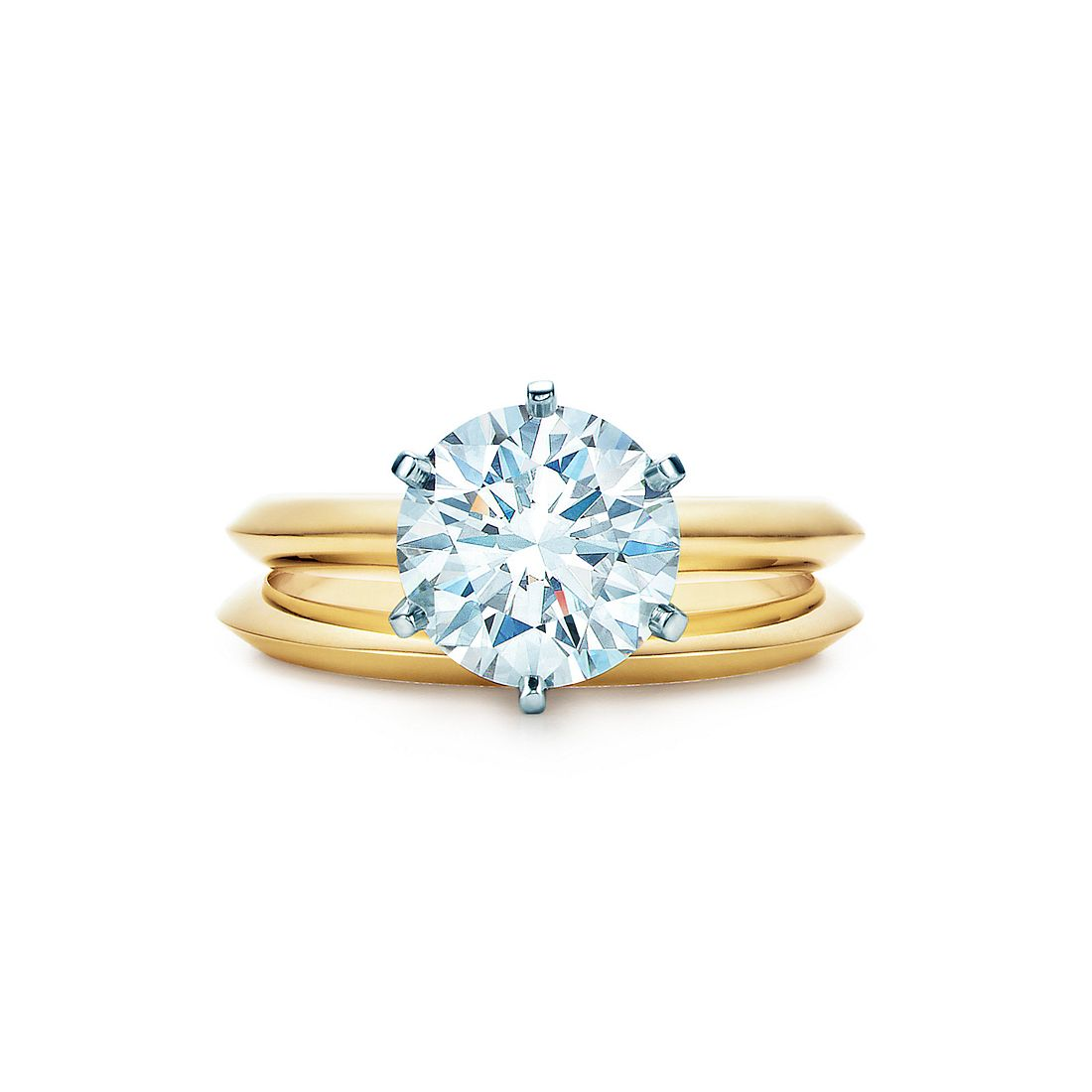 2.2 Ct Shown With Tiffany Wedding Band