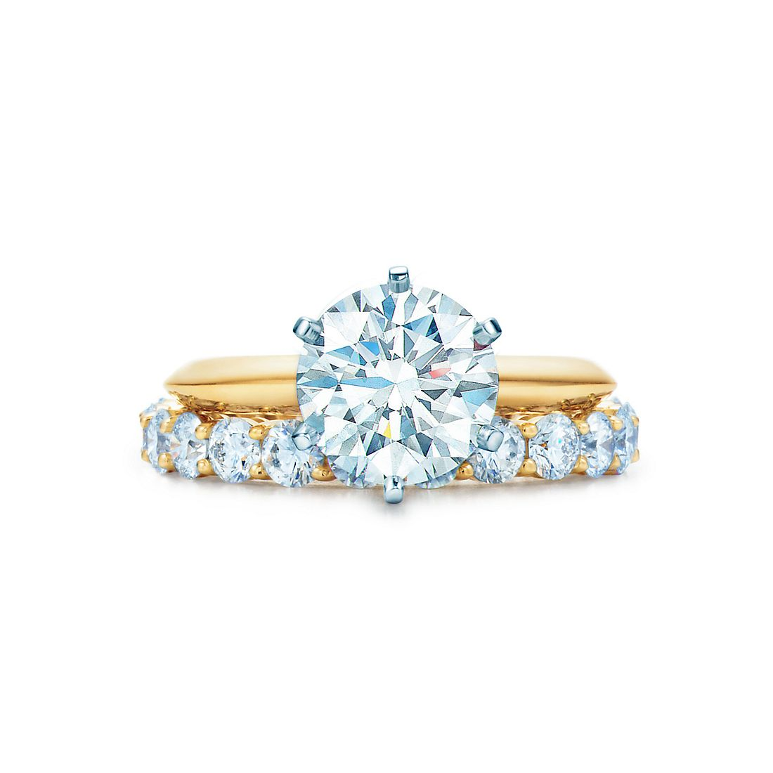 22 Ct Shown With Tiffany Embrace® Band Ring