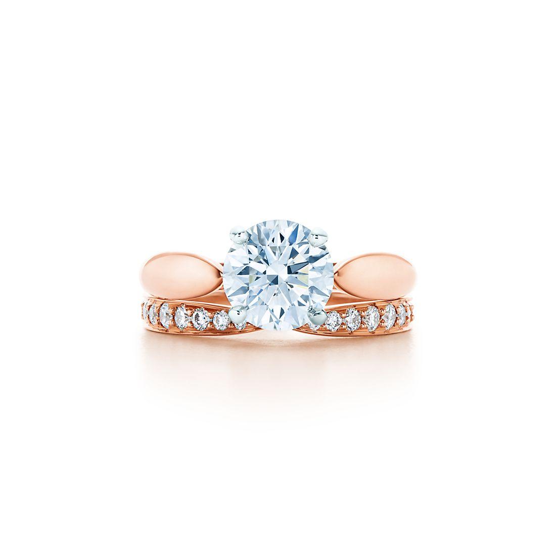 Tiffany Harmony 18k Rose Gold Engagement Rings Tiffany Co
