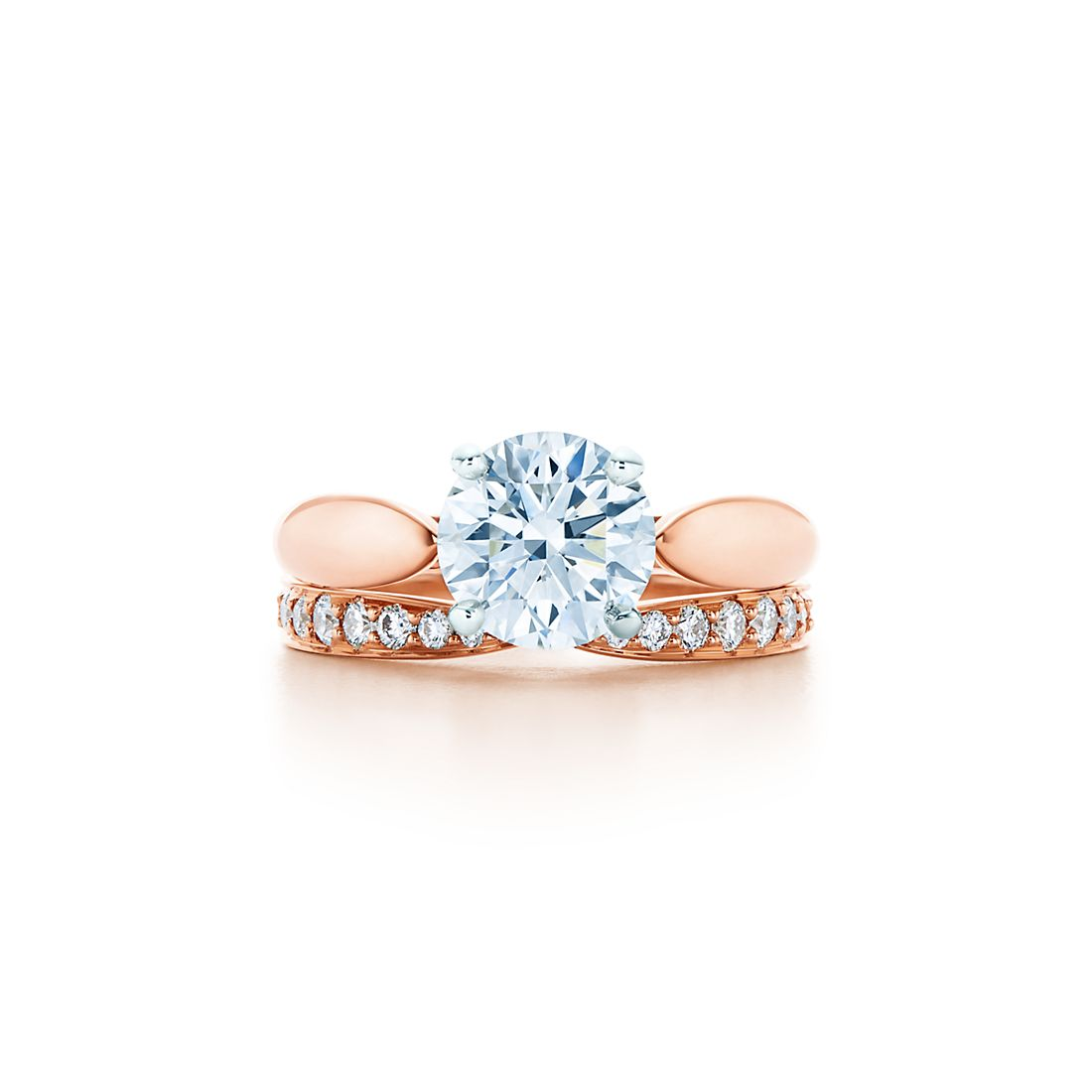 171 Ct Shown With Tiffany HarmonyR Wedding Band In 18k Rose Gold Diamonds