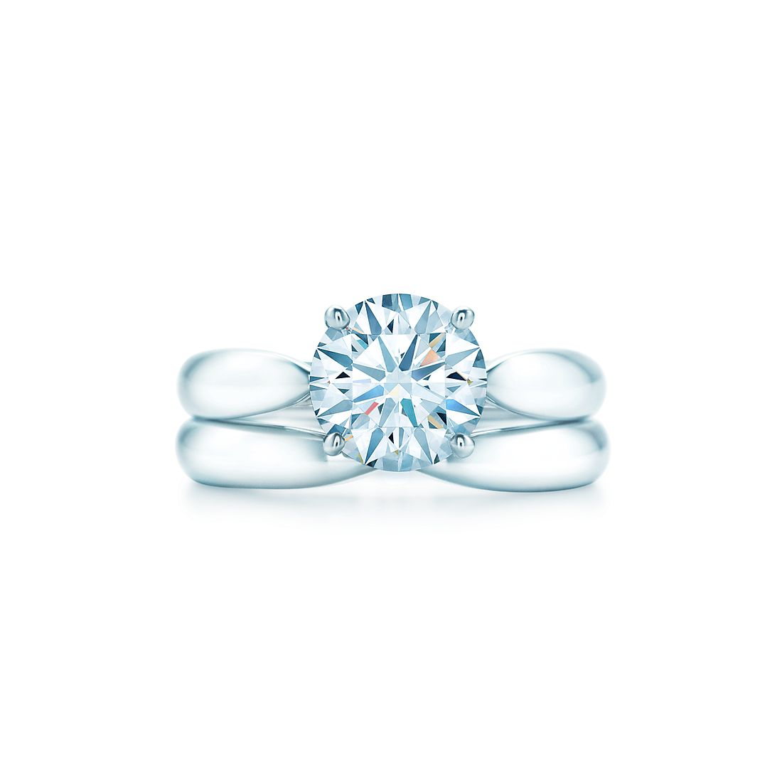 149 ct shown with tiffany harmony wedding band - Tiffany Wedding Ring