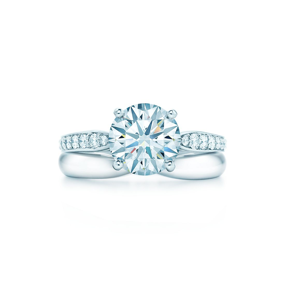 199 Carats Shown With Tiffany HarmonyR Wedding Band