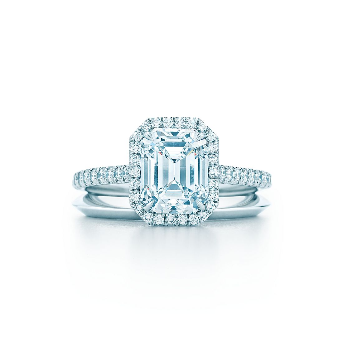 Engagement ring tiffany  Emerald Cut Diamond Engagement Rings | Tiffany Soleste® Engagement ...