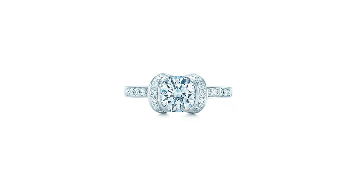 round brilliant ribbon ring engagement rings tiffany co