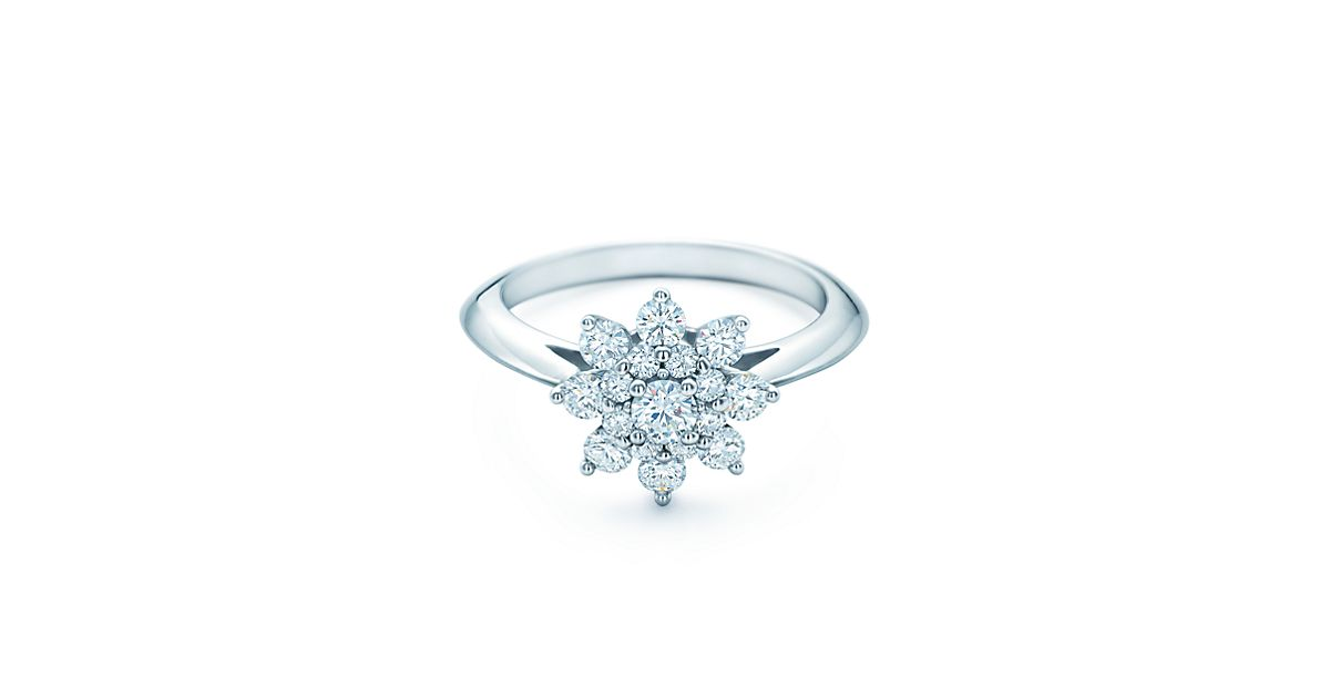 Tiffany Flower Engagement Rings