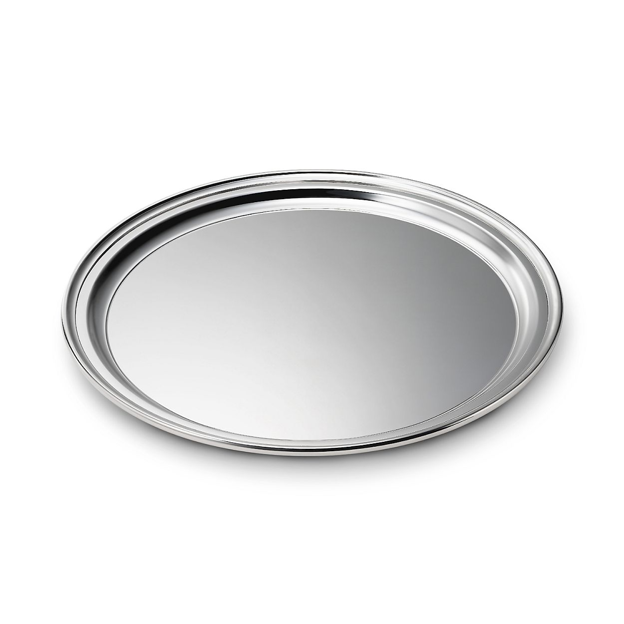 regency round tray in sterling silver tiffany co