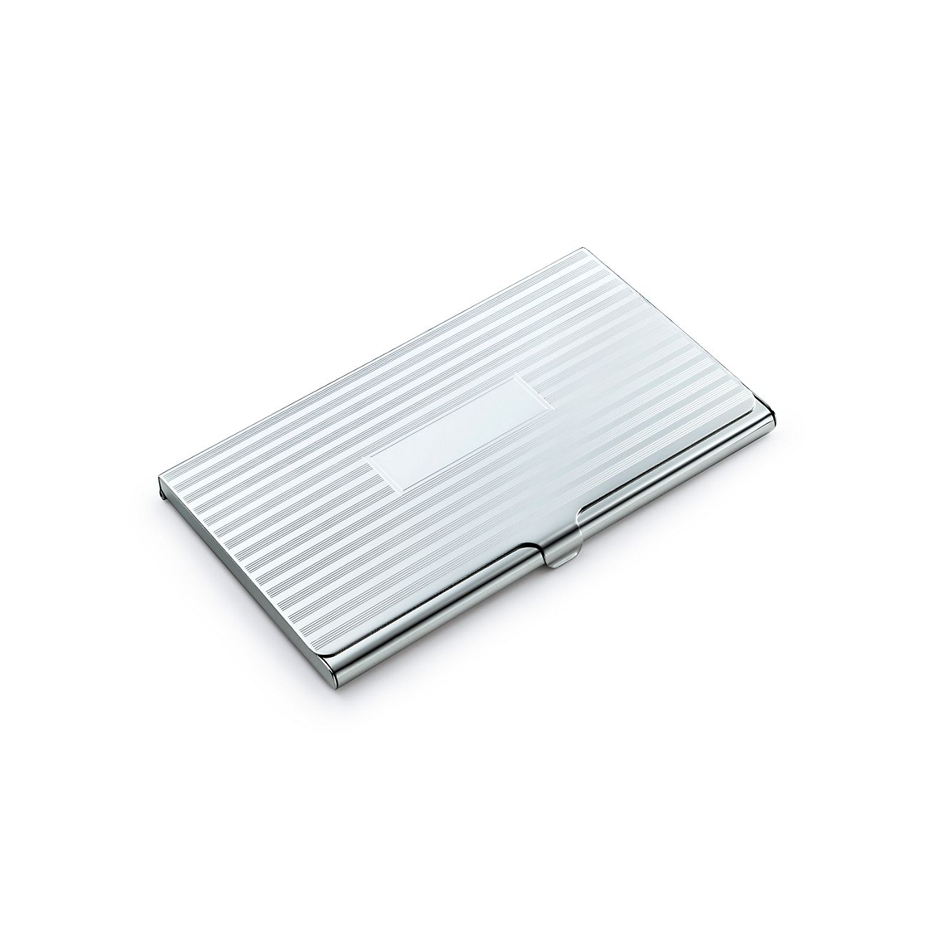 engine turned business card case - Silver Business Card Holder
