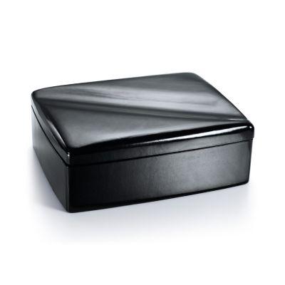 Elsa Peretti Wave jewelry box in black leather Tiffany Co