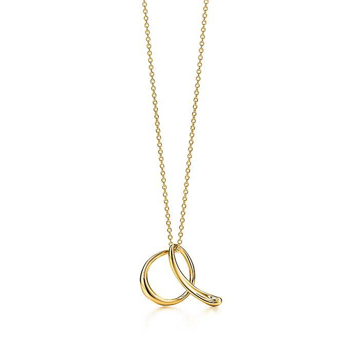 d6d44376b6dcc Elsa Peretti® Alphabet pendant in 18k gold. Letters A-Z available ...