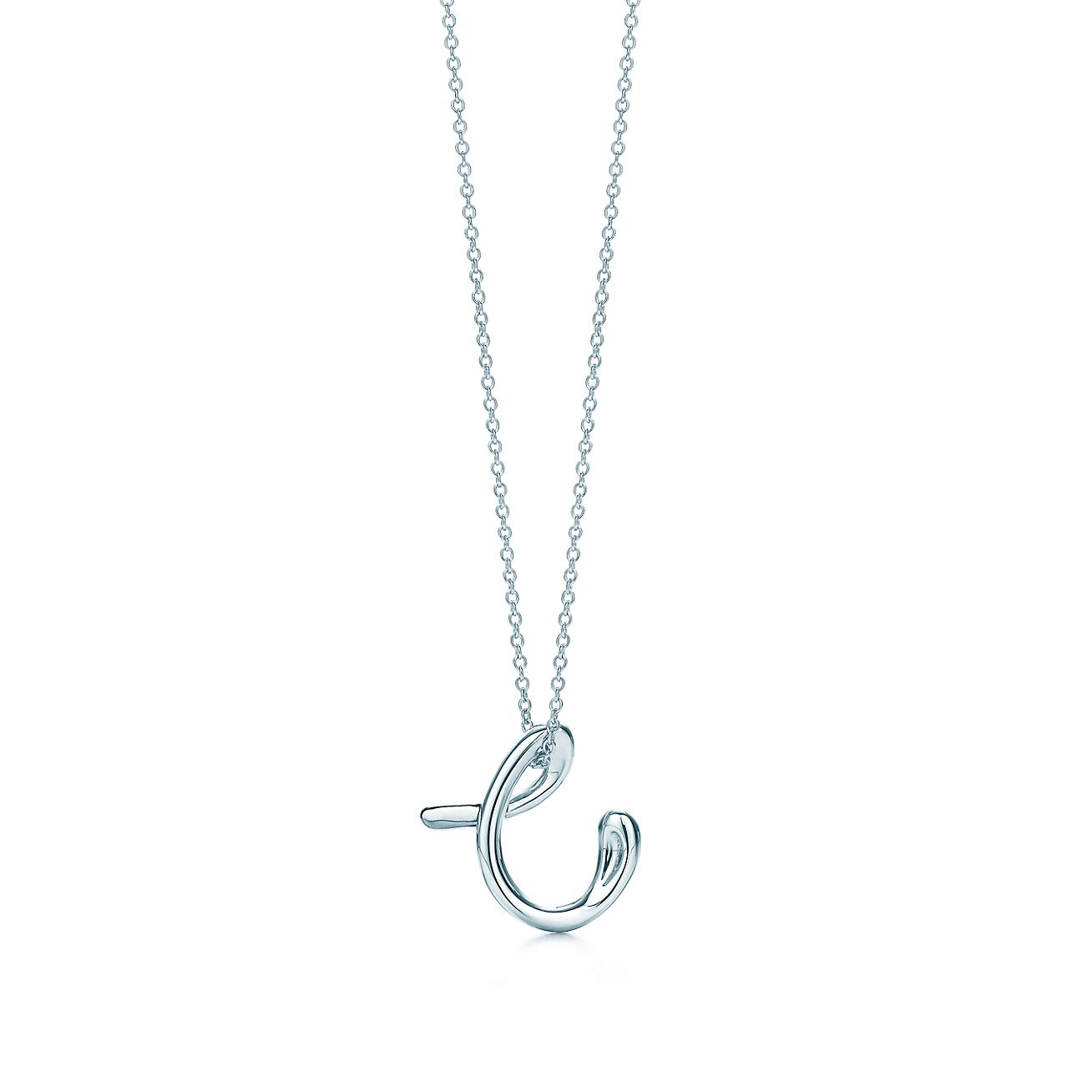 Elsa Peretti letter C pendant in sterling silver, small - Size C Tiffany & Co.