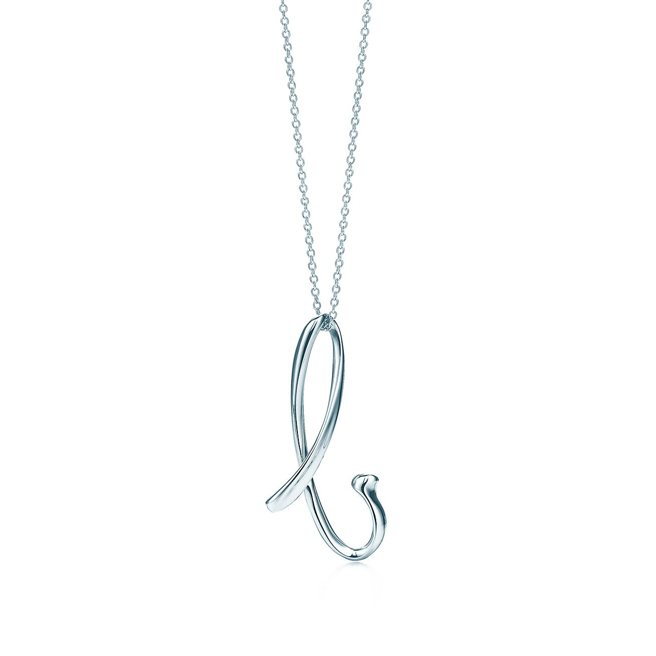 Elsa Peretti letter B pendant in sterling silver, small - Size B Tiffany & Co.