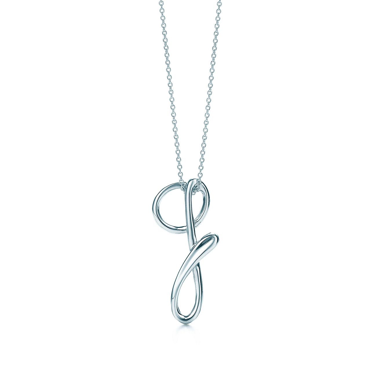 Tiffany Charms alphabet charm in sterling silver Letters A-Z available - Size Q Tiffany & Co.