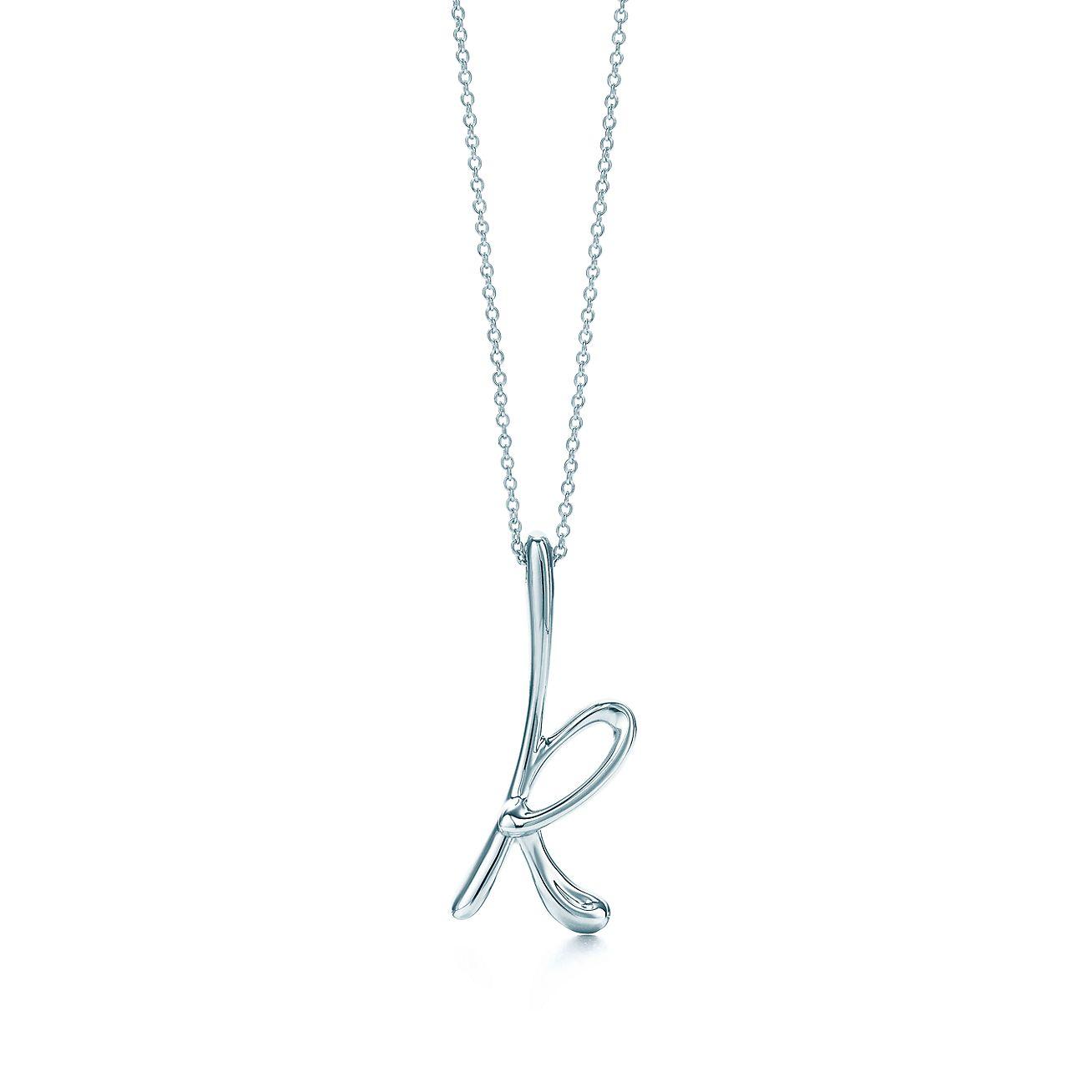 Elsa Peretti letter O pendant in sterling silver, small - Size O Tiffany & Co.