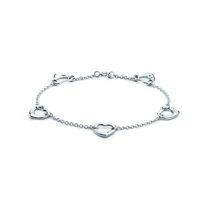 d32474e73 Elsa Peretti® Open Heart bracelet in sterling silver, medium ...